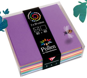 Coffret de correspondance carr pollen clairefontaine for Vente par correspondance jardinage