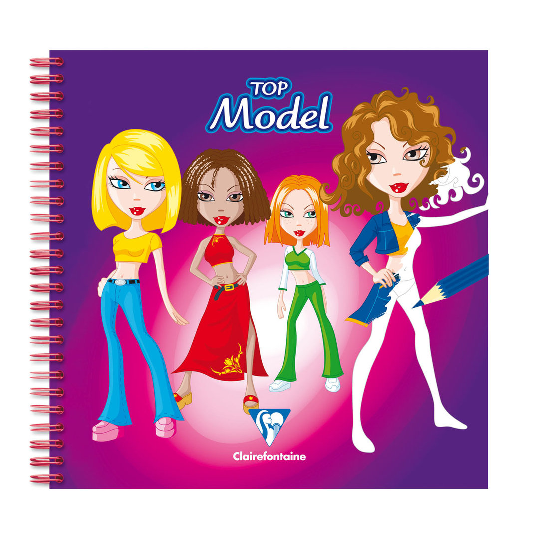Cahier de dessin creativ model top model clairefontaine - Cahier top model dessin ...
