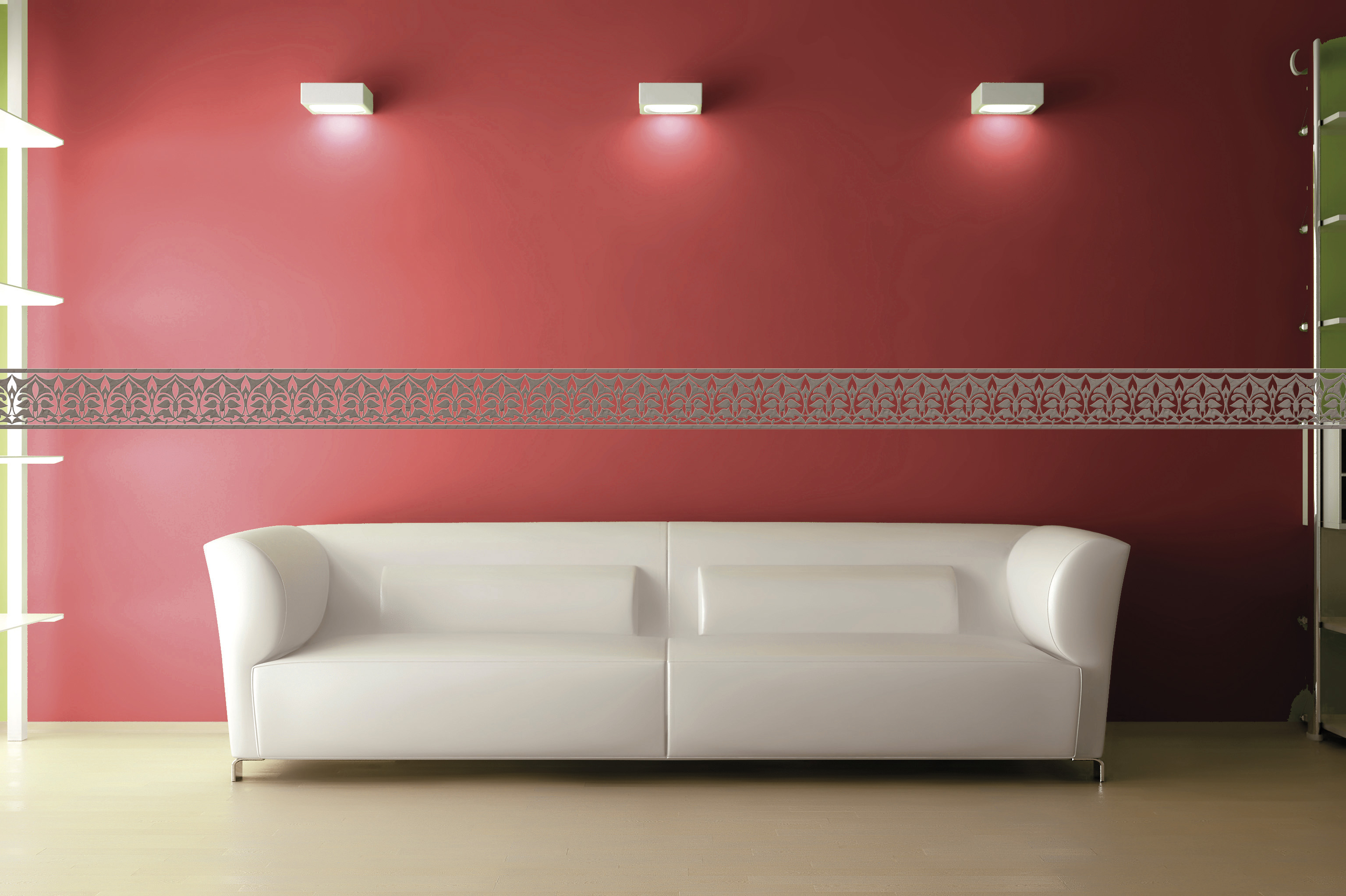 sticker mural fresque marocaine clairefontaine mille et une feuilles. Black Bedroom Furniture Sets. Home Design Ideas