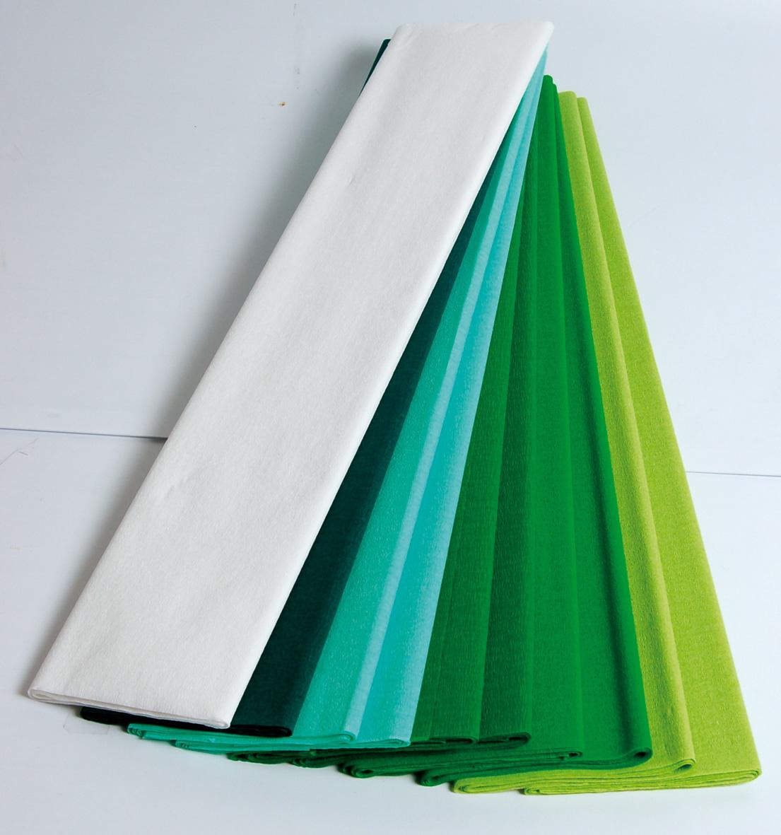 papier cr pon vert maildor 2m 50 cm 10 feuilles assortis mille et une feuilles. Black Bedroom Furniture Sets. Home Design Ideas
