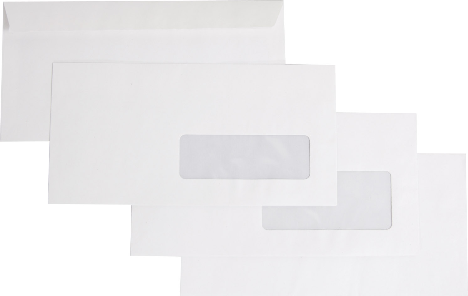 Enveloppes recycl es blanches dl fen tre 35 100 forever for Fenetre 80 100