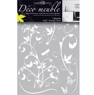 sticker meuble baroque blanc rouge de garance mille et une feuilles. Black Bedroom Furniture Sets. Home Design Ideas