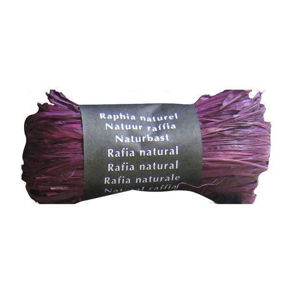Raphia naturel prune Maildor