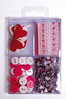 Embellissements Scrapbooking Rouge Passion Clairefontaine