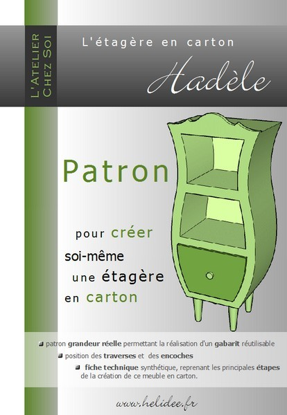 patron de meuble en carton etag re had le mille et une feuilles. Black Bedroom Furniture Sets. Home Design Ideas