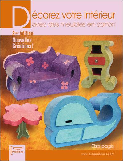 livre d corez votre int rieur avec des meubles en carton de e pagis mille et une feuilles. Black Bedroom Furniture Sets. Home Design Ideas