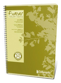 Cahier recyclé à spirale Forever A4 seyes