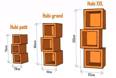 patron de meuble en carton module hubi xxl mille et une feuilles. Black Bedroom Furniture Sets. Home Design Ideas