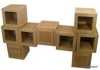 patron de meuble en carton module hubi xxl mille et une feuilles. Black Bedroom Furniture Sets. Home Design Ideas