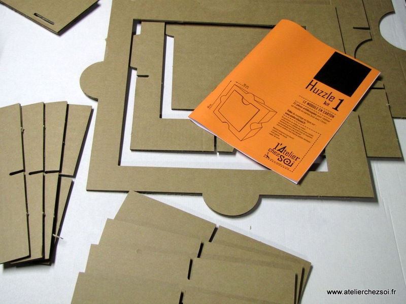 kit meuble en carton huzzle l 39 atelier chez soi mille et. Black Bedroom Furniture Sets. Home Design Ideas