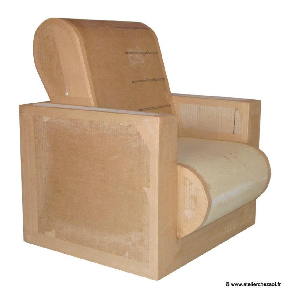 Patron de fauteuil en carton enfant hadam mille et une for Meuble fauteuil