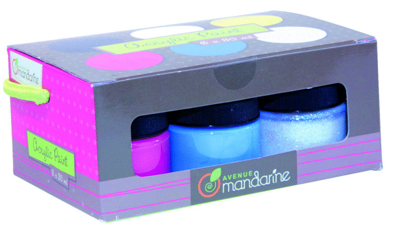 coffret peinture acrylique essential avenue mandarine. Black Bedroom Furniture Sets. Home Design Ideas