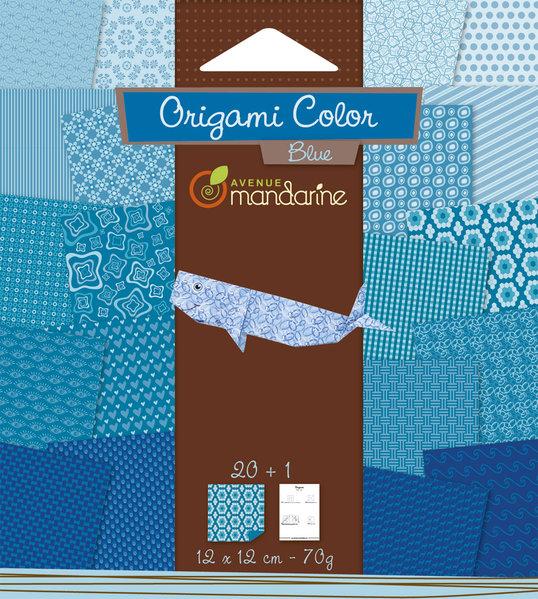 Papier Origami Bleu Avenue Mandarine ...