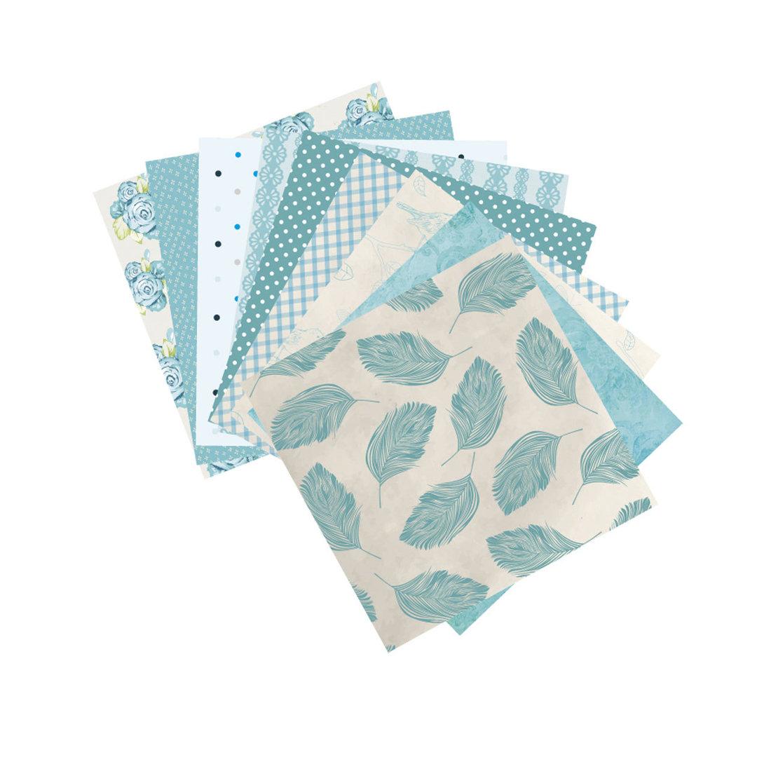 Attractive ... Origami Papier Fleurs Bleues Paper Touch ...