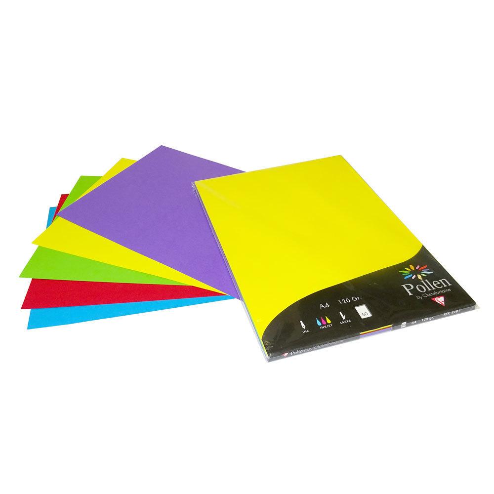 papier couleurs vives pollen clairefontaine a4 120 gr 50 feuilles mille et une feuilles. Black Bedroom Furniture Sets. Home Design Ideas