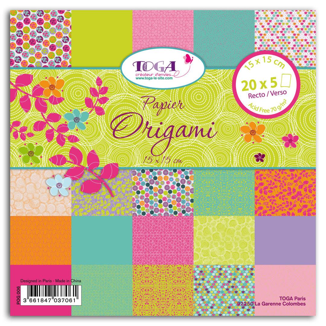 papier origami 15 x 15 et 20 x 20 mille et une feuilles