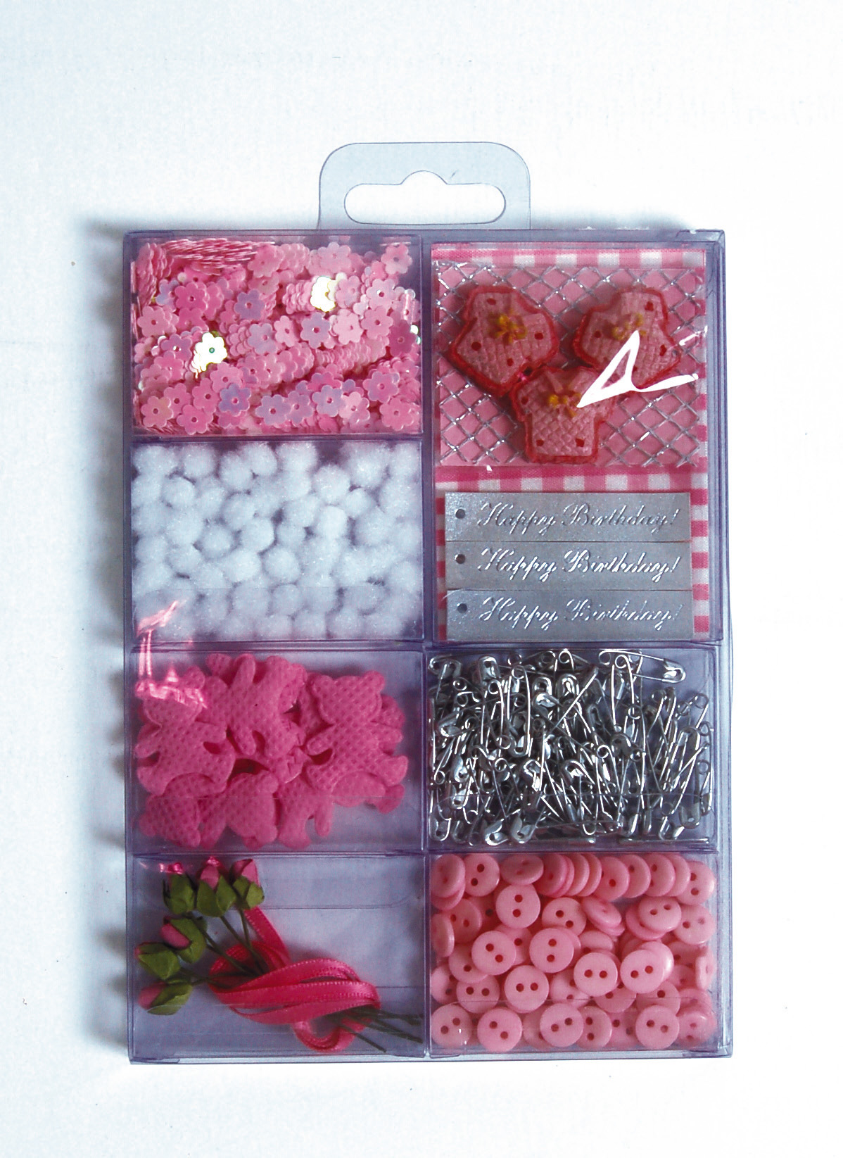 Embellissements Scrapbooking Naissance Rose Clairefontaine