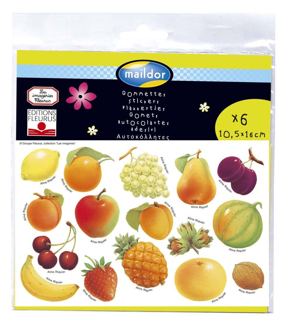 Coloriage Gommette Fruits Et Legumes.Gommettes Fruits Et Legumes Edition Fleurus Mille Et Une Feuilles
