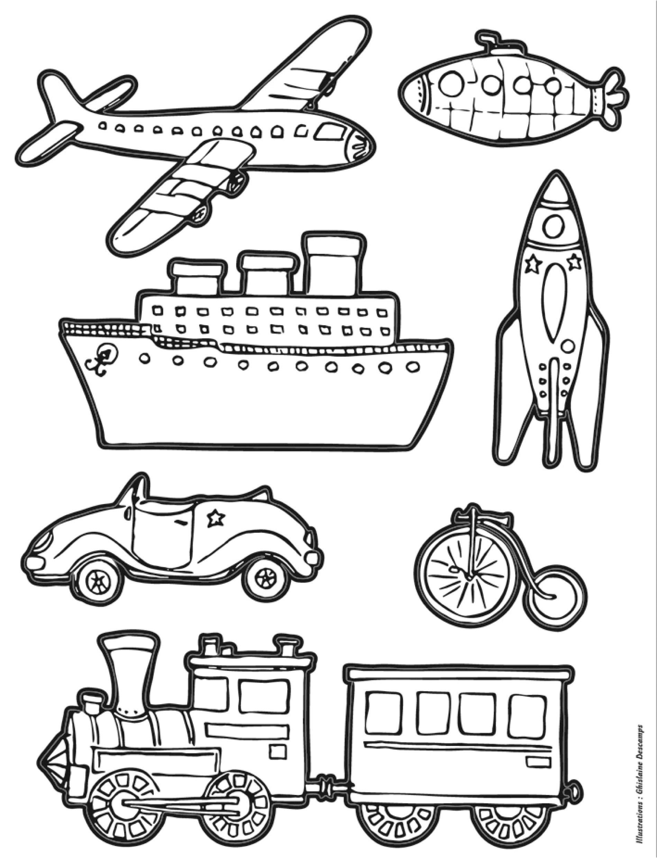 Gommettes autocollantes transports colorier mille et une feuilles - Images a colorier et imprimer cars ...