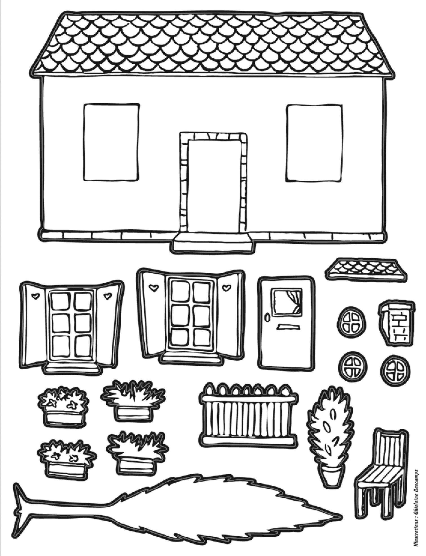 gommettes autocollantes maison colorier mille et une feuilles. Black Bedroom Furniture Sets. Home Design Ideas