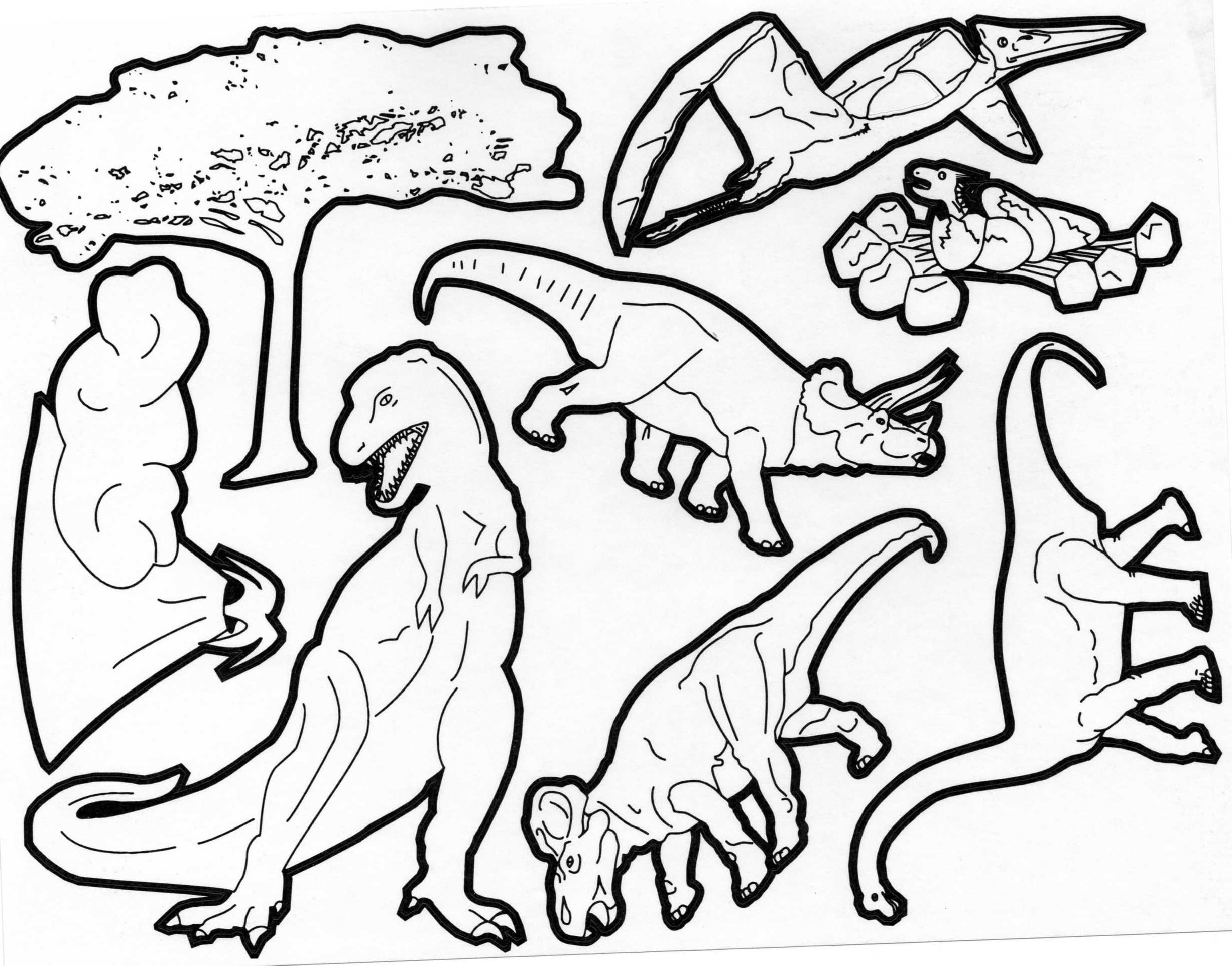 Gommettes Stickers a colorier Dinosaures