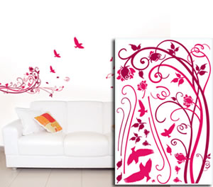 Sticker Mural Arabesque Rouge de Garance