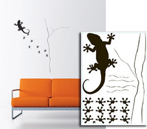 Sticker Mural Lezard Rouge de Garance