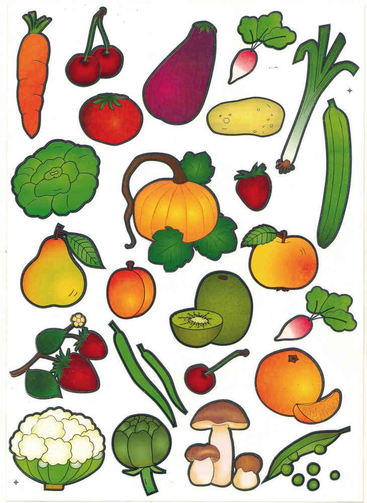 Coloriage Gommette Fruits Et Legumes.Gommettes Baby Fruits Et Legumes Maildor Mille Et Une Feuilles