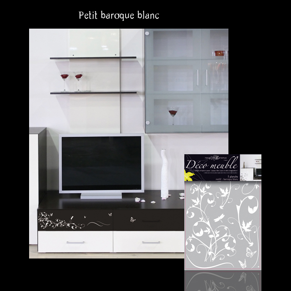 Sticker Meuble Baroque blanc Rouge de Garance