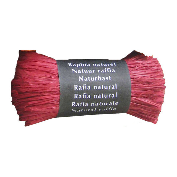 Raphia naturel rouge Maildor