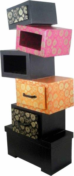 patron de meuble en carton etag re h kilibre mille et. Black Bedroom Furniture Sets. Home Design Ideas