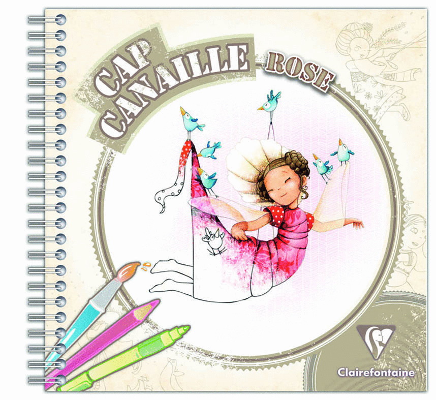 Coloriage Cap Canaille Rose Clairefontaine