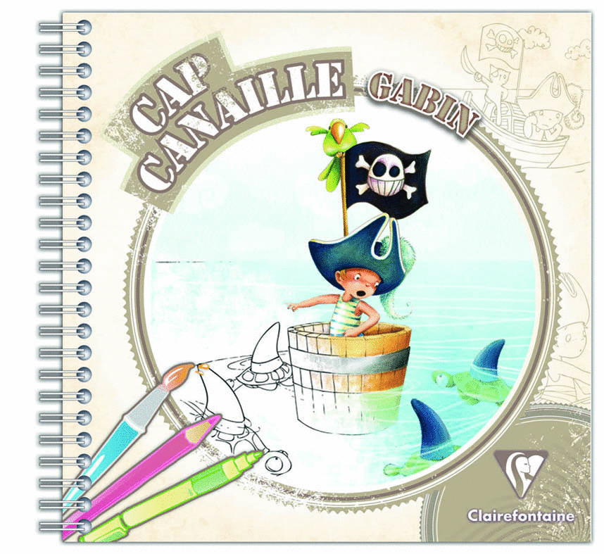 Coloriage Cap Canaille Gabin Clairefontaine