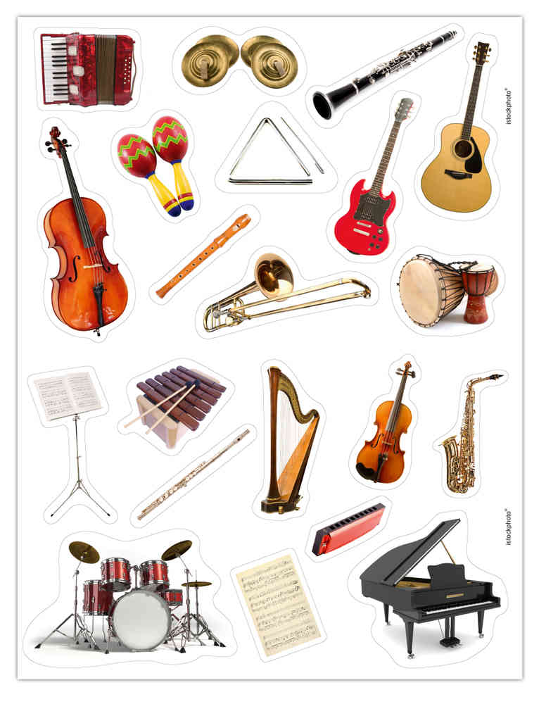 Gommettes Instruments De Musique Mille Et Une Feuilles