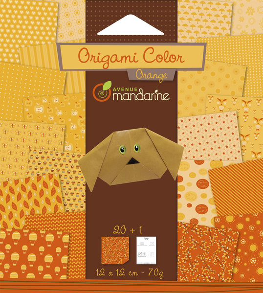 Papier Origami orange Avenue Mandarine