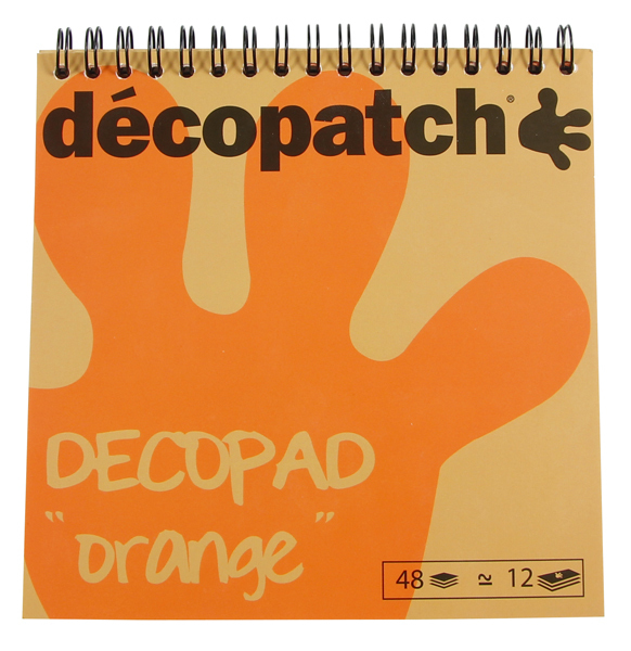 Papier Decopatch Orange Decopad 15*15 cm bloc 48 feuilles