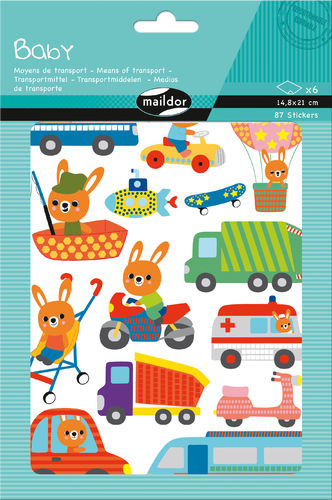 Gommettes Baby Transport Maildor
