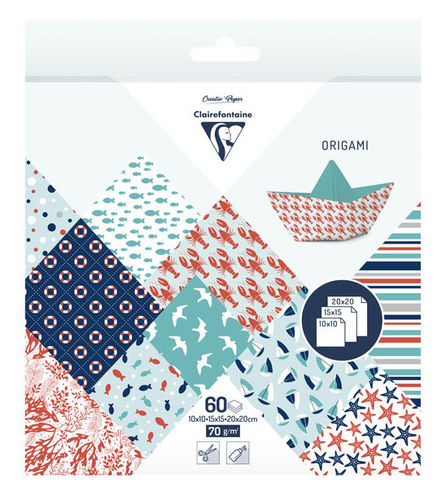 Papier Origami Grand large Clairefontaine 3 formats