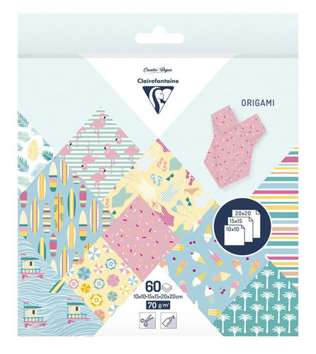 Papier Origami California Dream Clairefontaine 3 formats