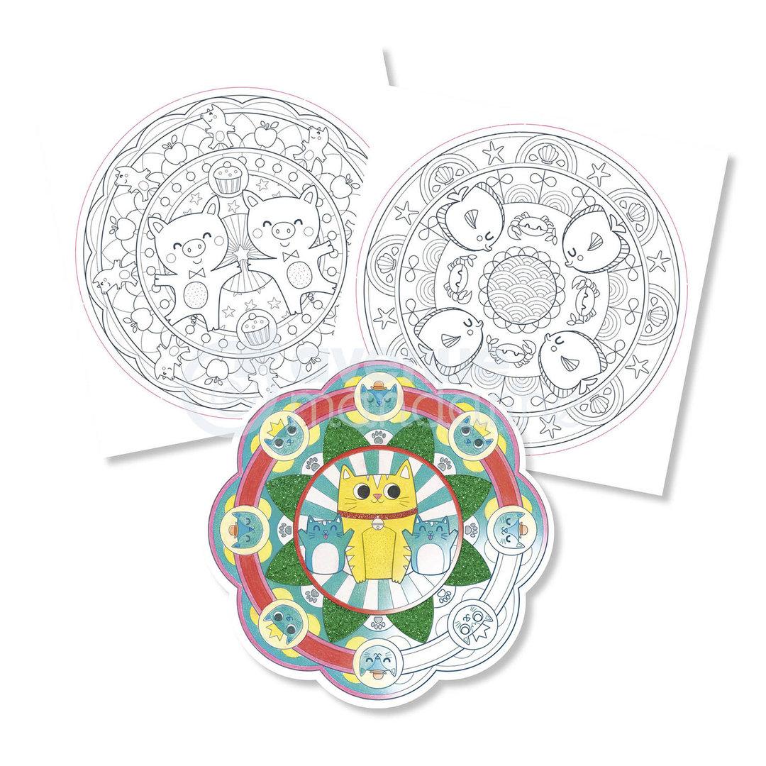 Cahier De Coloriage Mandala Animaux Graffy Pop Avenue Mandarine Mille Et Une Feuilles