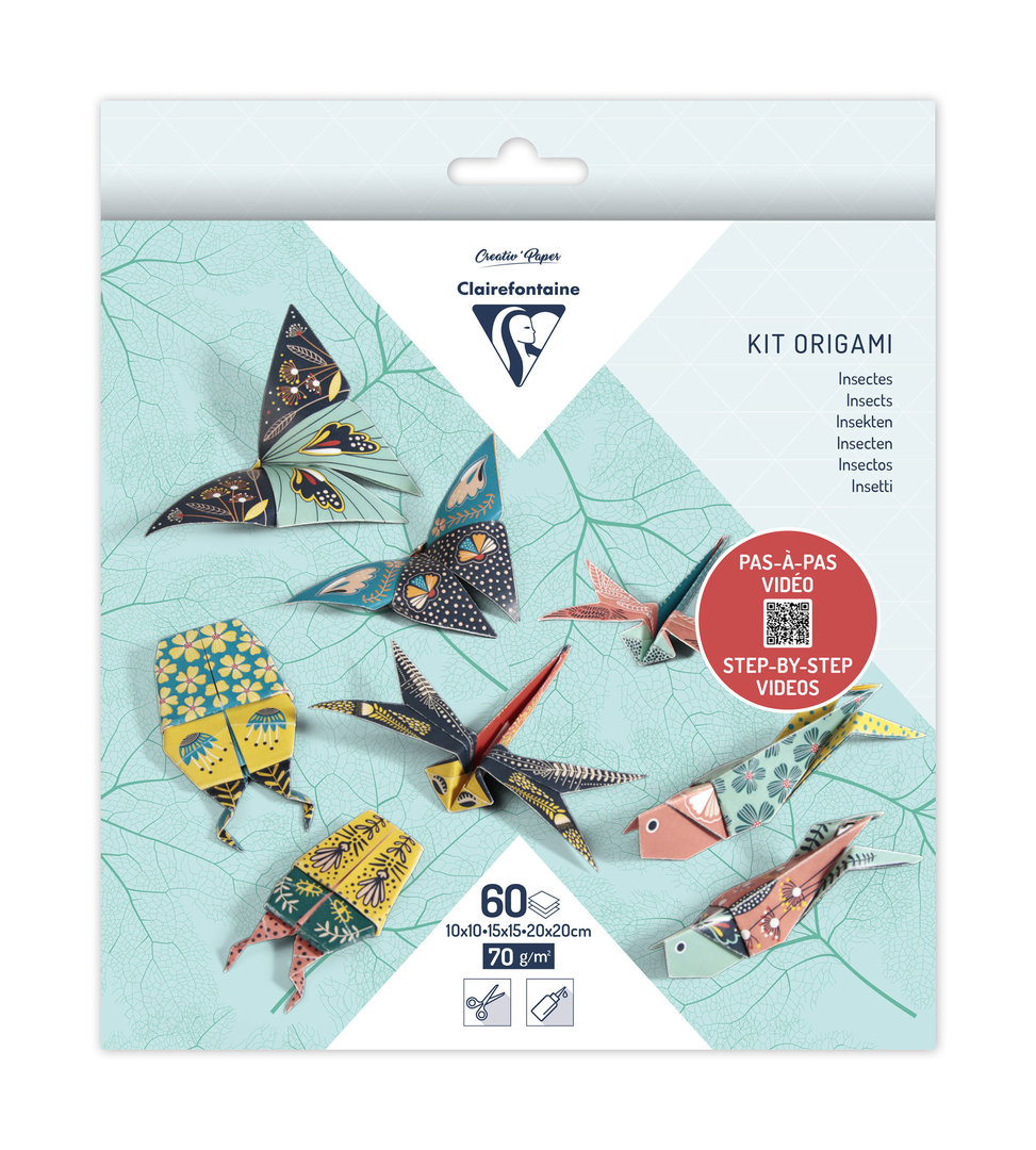 Kit Origami Décor Insectes Clairefontaine 3 formats