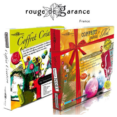Box scrapbooking Rouge de garance